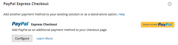 Magento 2 Paypal options