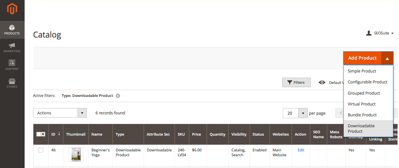 Magento downloadable product