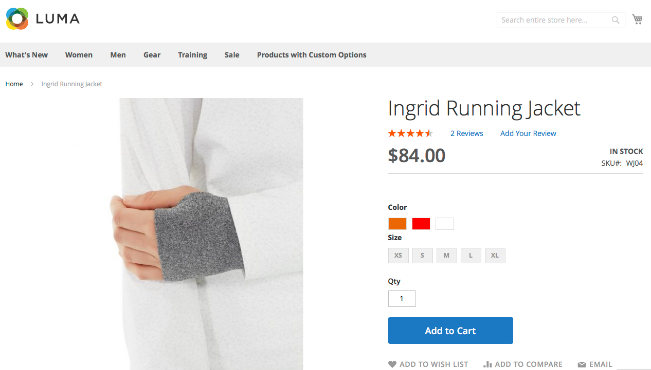 Swatches for configurable products in Magento 2