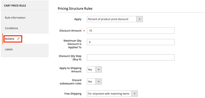 Magento 2 shipping rules default