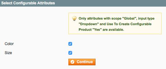 Magento configurable attributes
