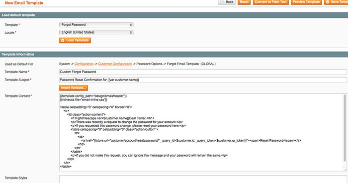 Magento Email Templates Customization Mageworx