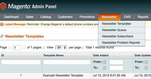 Magento Newsletter Functionality MageWorx - Magento newsletter templates